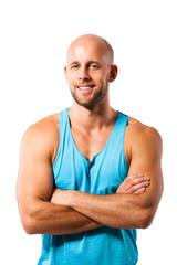 attraktiver männlicher Sportler
