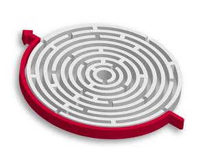 3D Maze Strategy