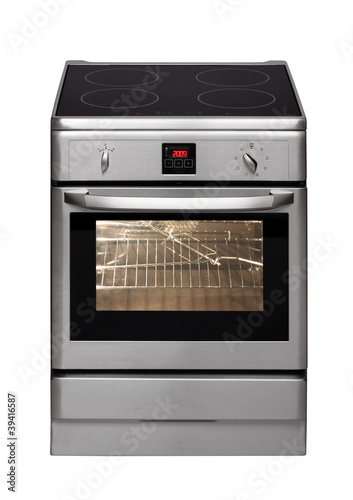 Electric cooker isolated on white