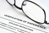 Verification of experience poster