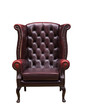 Classic Chesterfield luxury armchair  with clipping path