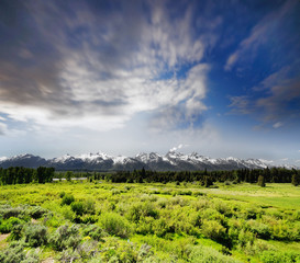Grand Tetons National Park in Western Wyoming.