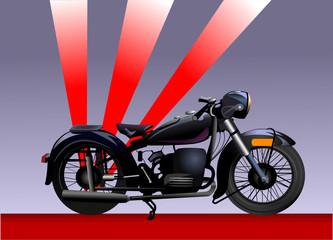 old black  motorbike