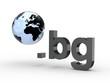 3D Domain bg mit Weltkugel
