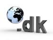 3D Domain dk mit Weltkugel