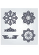 Snowflake winter background.