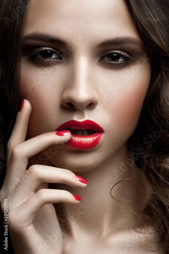 Woman with stylish makeup