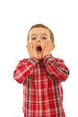 Surprised child boy