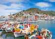 The pictorial harbour of Hydra island in Greece