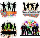 Fototapety Dancing people -grunge background