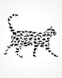 animal silhouettes in cat shape
