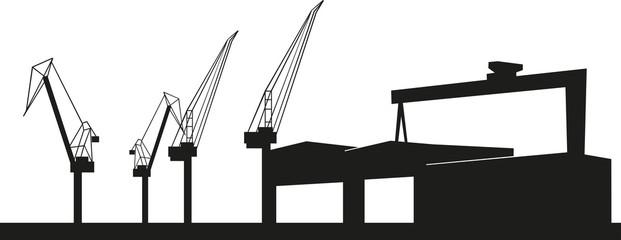 Werft in Rostock - Schiffbau und Hafen in der Warnow