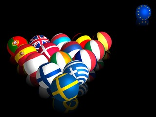 Euroballs (on black)