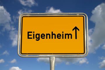 Deutsches Ortsschild Eigenheim