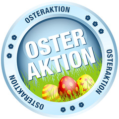 Button Osteraktion Ostereier blau