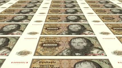 Alte 1000 DM Banknoten endlos