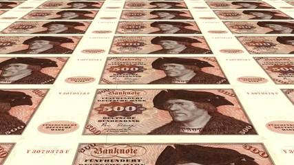 Alte 500 DM Banknoten endlos
