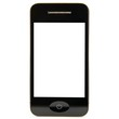Smartphone frontal weiß