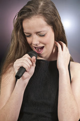 Teenage Woman Singer