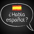 Kreidetafel, Habla espanol, Sprechblase