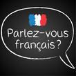 Kreidetafel, Parlez-vous francais, Sprechblase
