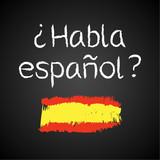 Fototapety Kreidetafel, Habla espanol
