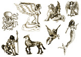 Mystical creatures - According to ancient Greek myths. poster
