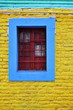 Colorful wall and window at La Boca in Buenos Aires