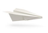 paper airplane origami vector illustration isolated on white