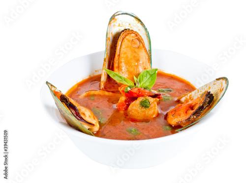 Delicious mediterranean seafood soup