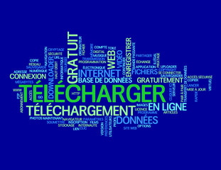 "Nuage de Tags ""TELECHARGER"" (internet download téléchargement)"