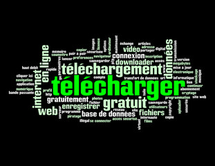 "Nuage de Tags ""TELECHARGER"" (download internet téléchargement)"