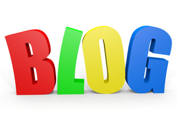 Colorful 3D word BLOG.