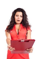 Worried nurse or woman doctor getting bad news