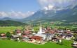 der beliebte Urlaubsort Ellmau am Wilden Kaiser