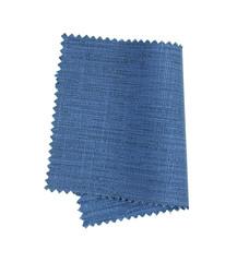 blue fabric sample isolated on white background