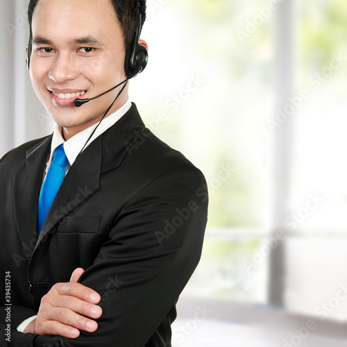 male young call center