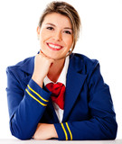 Air hostess smiling