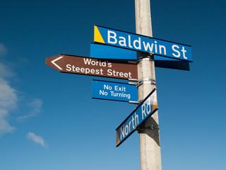 Panneau indicateur - baldwin street