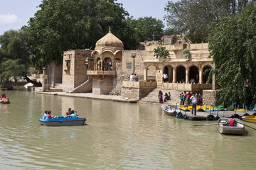 Boating on Gadi Sagar lake in Jaisalmer