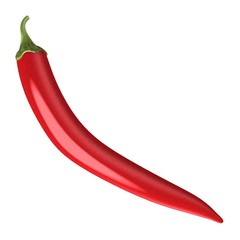 3d render of chilli pepper