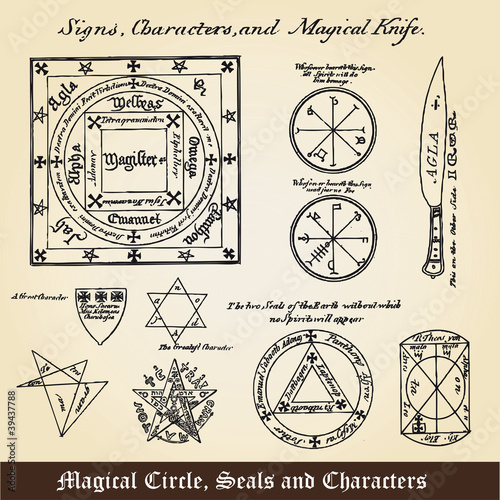 Magical Circle, Seals and Characters