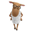 Sheepy with eyeglasses
