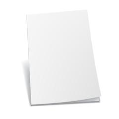 Empty white books