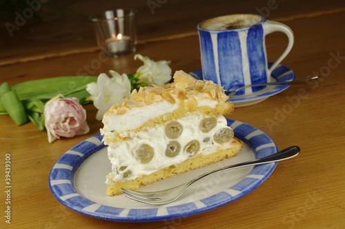 Leinwanddruck Bild Strawberry Cake