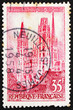 Postage stamp France 1957 Rouen Cathedral, France