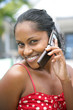 Black woman making a call on her mobile