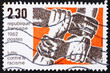 Postage stamp France 1982 Fight against Racism