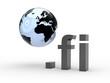 3D Domain fi mit Weltkugel