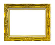 frame of golden wood isolated with clipping path